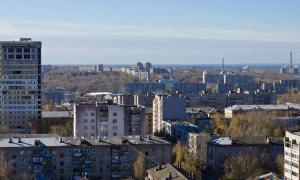 Вид на Киров с крыши, krp-00638