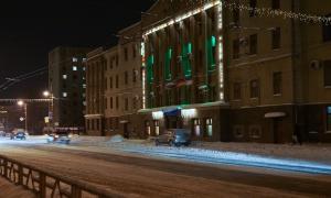 Вятка. Зима. Вечерний город, Управление ГЖД