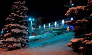 Вятка. Зима. Вечерний город, ДК железнодорожников