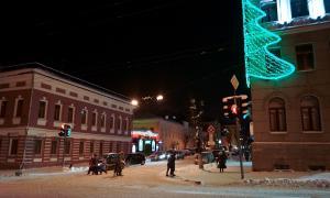 Вятка. Зима. Вечерний город,