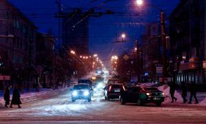 Зима. Вятка. Вечерний город-3