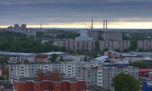 Несколько видов Кирова свысока