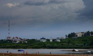 Волейбол на пляже. Ливень, plag-008