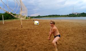 Волейбол на пляже. Ливень, plag-015