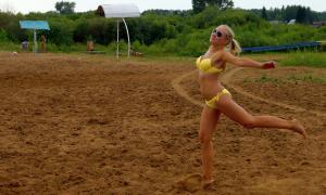 Волейбол на пляже. Ливень, plag-021