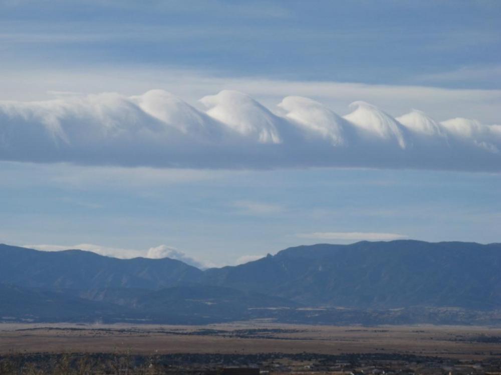 волновые облака Кельвина-Гельмгольца