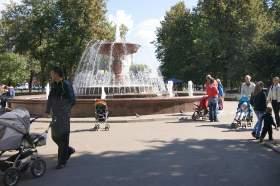 "Фотозарисовка ""У фонтана"", font07"