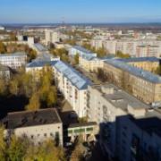 Вид на Киров с крыши дома у Театральной площади